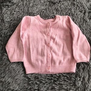 H&M soft blush/pink cardigan sweater - 4-6 months
